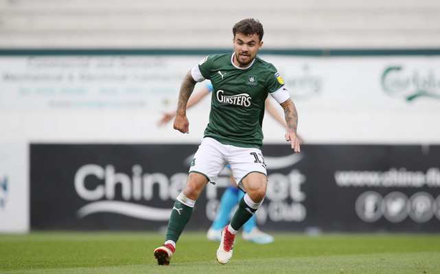 Dominic Telford, who has returned to the Plymouth Argyle squad following injury. Photo courtesy of Dave Rowntree, official photographer Plymouth Argyle FC