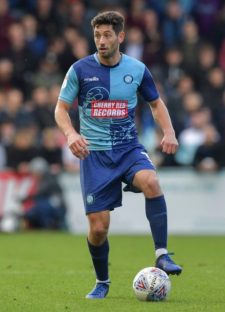 Joe Jacobson who scored a penalty for Wycombe Wanderers last Saturday. NO CREDIT ON THIS ONE
