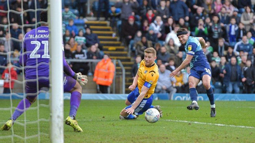 Matt Bloomfield pictured scoring against Rovers last Saturday - No credit