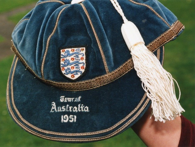 The cap that Harry won for the FA Tour of Australia in 1951