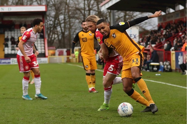 Cristian Montano, in the Port Vale side pushing for a League two play off place. NO CREDIT FOR THIS ONE
