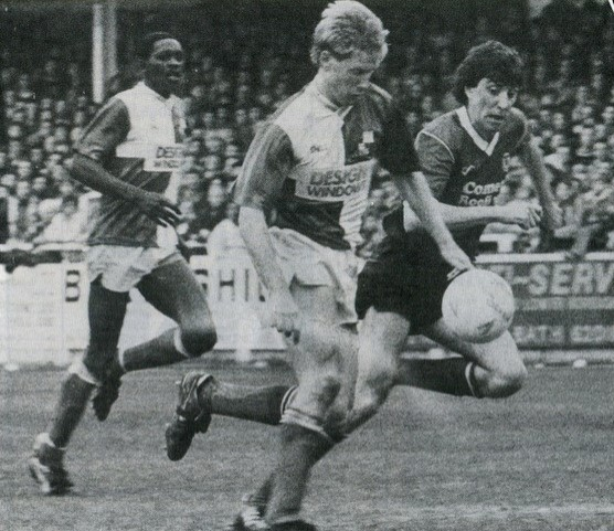 David Mehew in action during the goalless draw against Leyton Orient