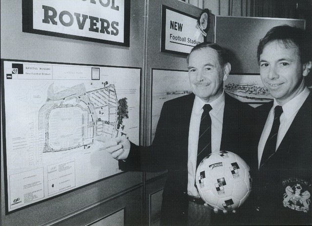 Denis and Geoff Dunford unveil plans for a new stadium at Siston Hill