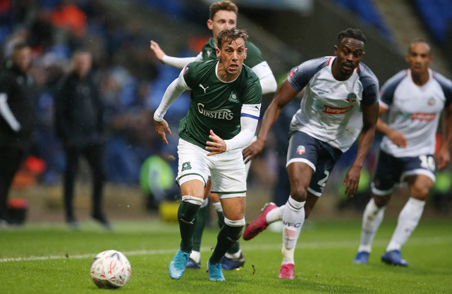 Bolton Wanderers v Plymouth Argyle, Bolton, UK - 9 Nov 2019