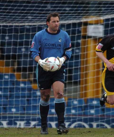 Goalkeeper Kevin Miller, pictured at Gigg Lane. He made way for Ryan Clarke after this game and was soon on his way to Derby County. Photo credit Jeff Davis