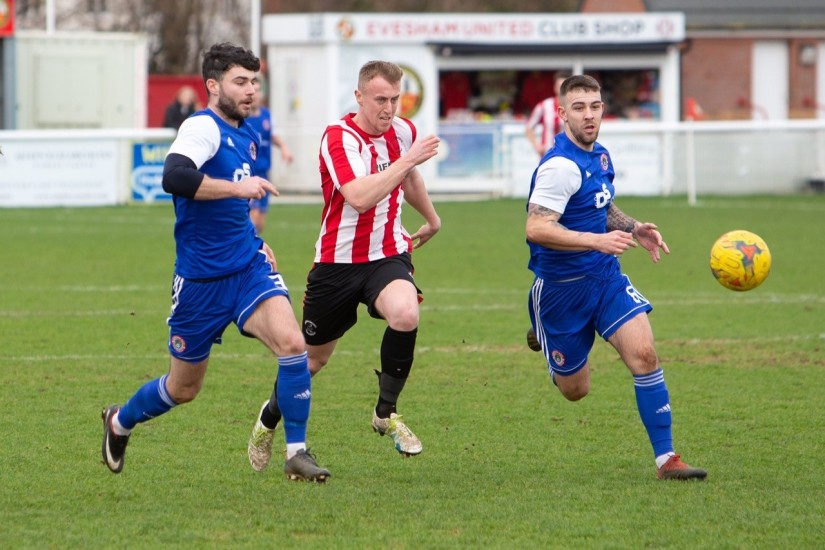 Jamie Lucas, who is currently playing for Evesham United in the Southern League Division One South. NO CREDIT ON THIS ONE