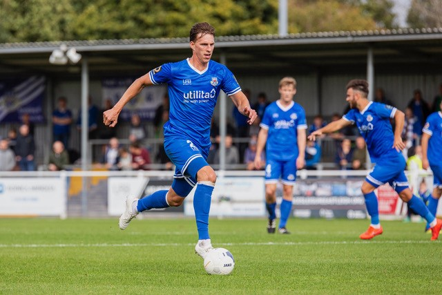Joe Partington, a regular in the Eastleigh side this season. Photo courtesy of Tom Coffey, Eastleigh FC