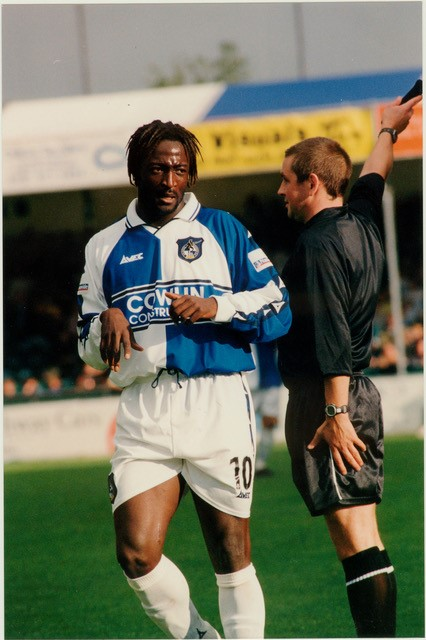 Moussa Dagnogo, who played in Iceland for KR Reykjavik. Photo Alan Marshall