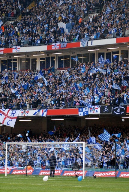 It was also blue & white inside the stadium. Photo Credit Neil Brookman